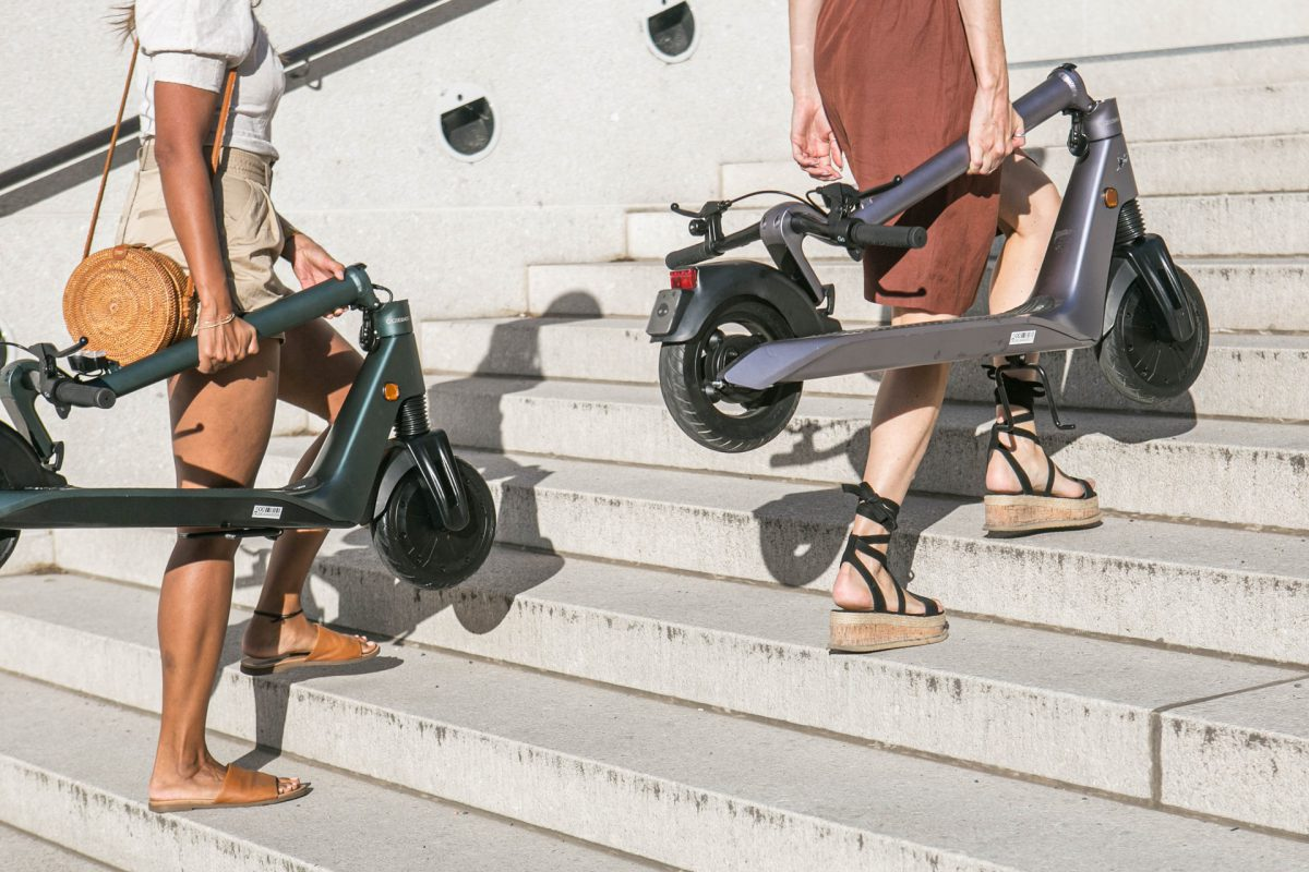 Electric scooters are popular for commuting because they are easy to carry
