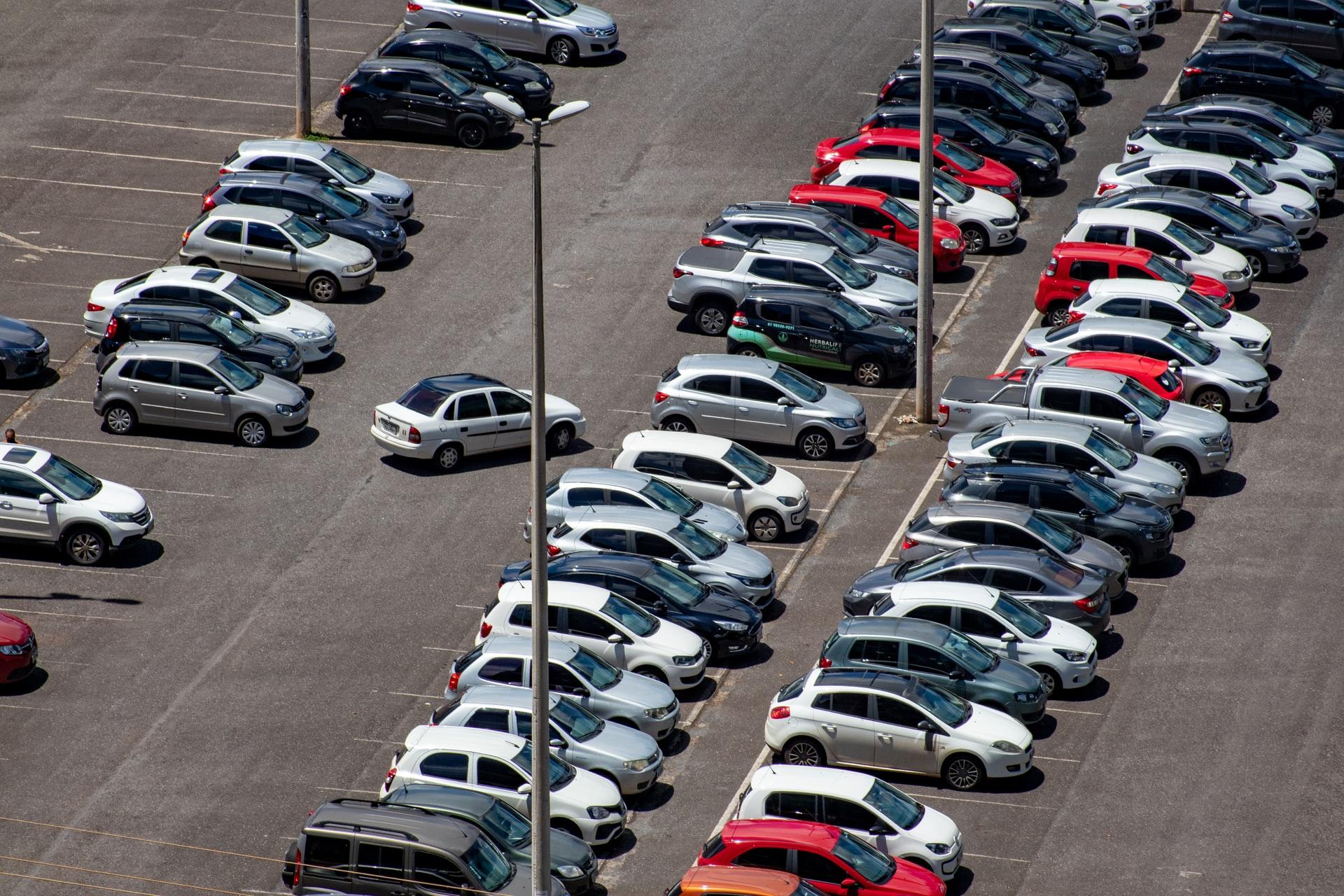 Cars parking, parking spaces